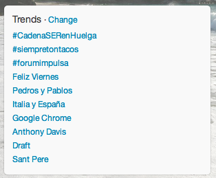 #CadenaSERenhuelga, Trending topic