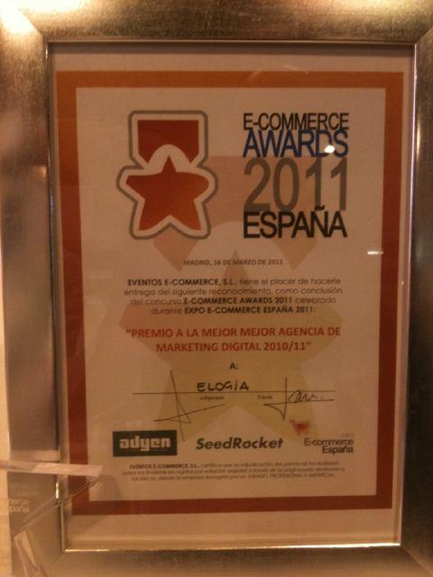 Elogia, mejor agencia de marketing digital 2010-2011