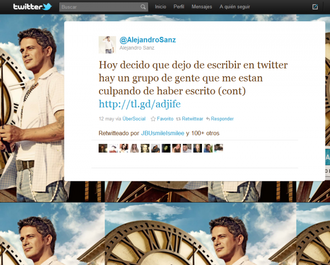 Alejandro Sanz Twitter
