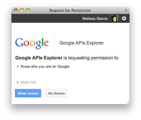 Google + API