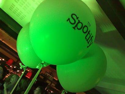Spotify Balloons