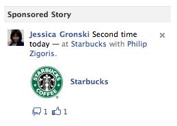 Sponsored Story, Facebook