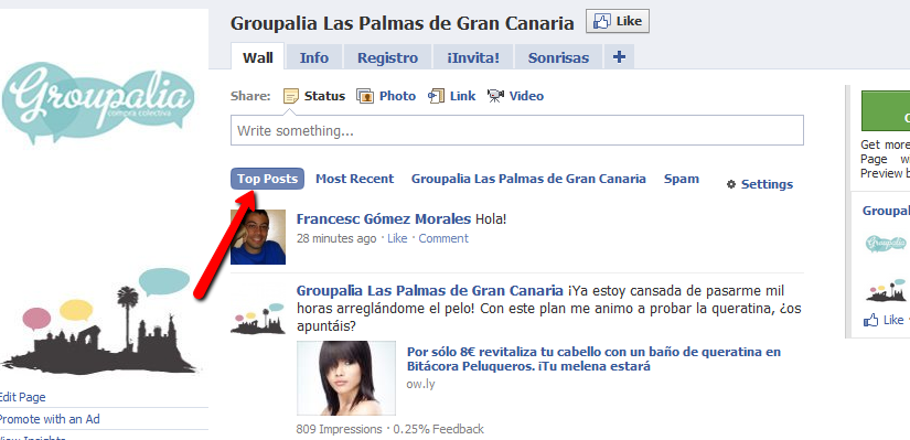Facebook top posts
