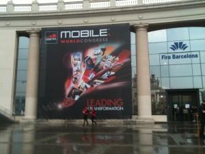 Entrada del Mobile World Congress 2011 en Barcelona