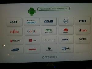 Cartera de móviles que usan Android