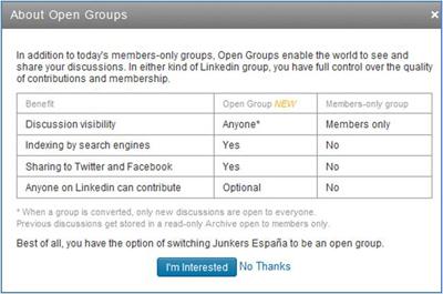 Nuevas características de los Open Groups