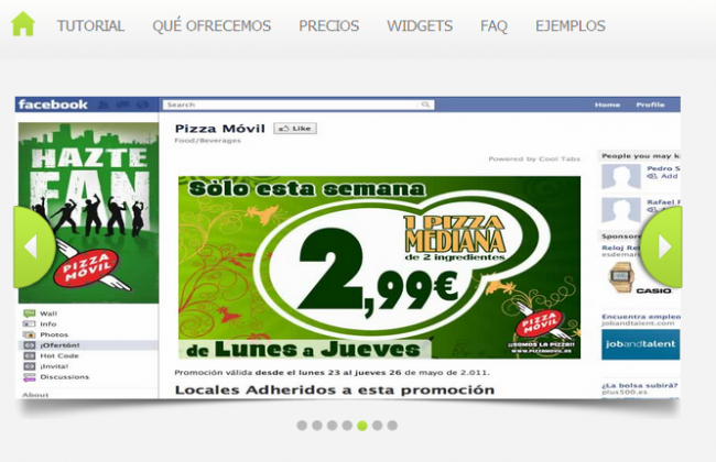 Pizza Movil Facebook