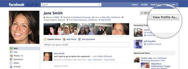 Ver perfil como en facebook