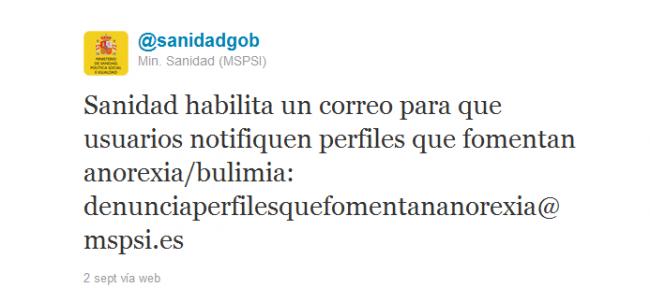 denunciaperfilesquefomentananorexia@mspsi.es