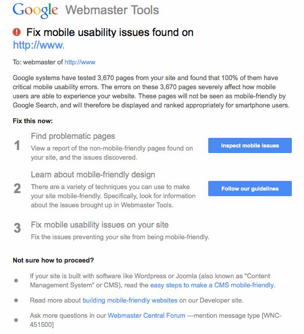 google-mobile-friendly-alert