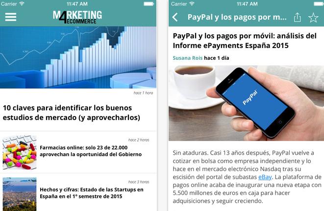 marketing4ecommerce app