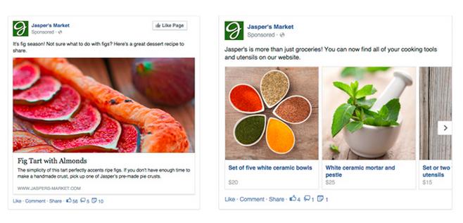 anuncios dinamicos de facebook ejemplo