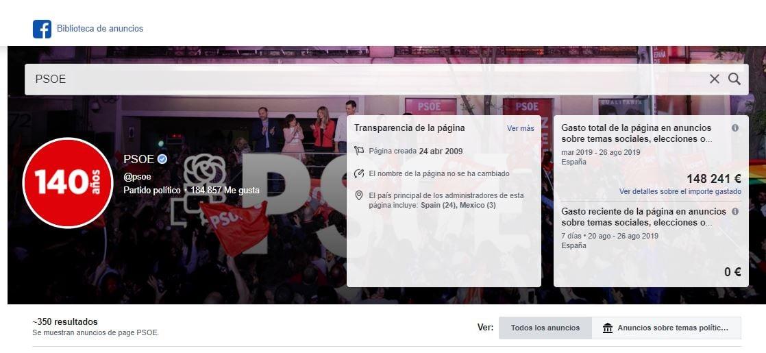 Anuncios PSOE en Facebook-1