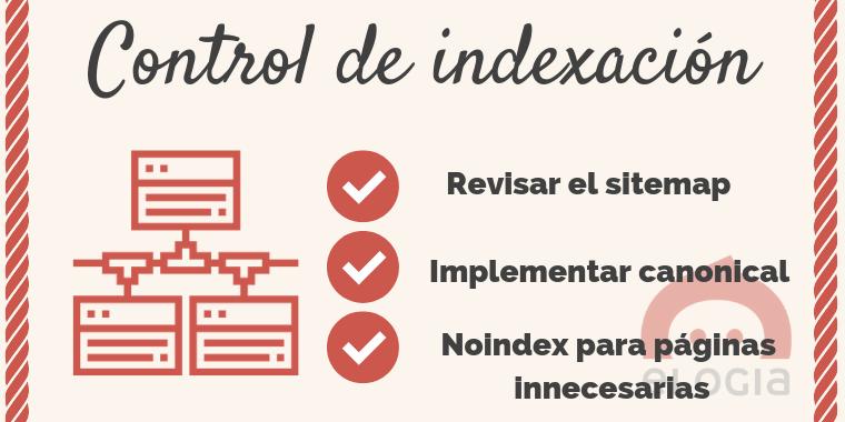 Tendencia SEO 2019: control de la indexación