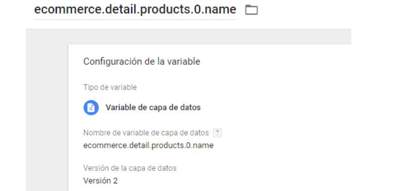 GTM VARIABLE CAPA DE DATOS