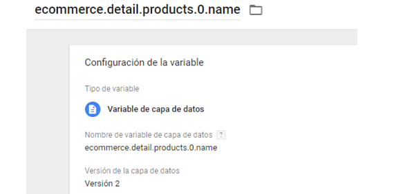 GTM VARIABLE CAPA DE DATOS