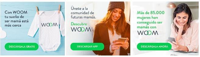 campaña descargas app woom