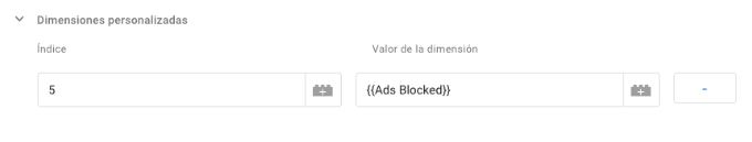 configuracion variable 2 analytics adblocker