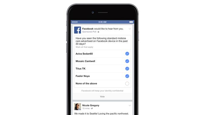 facebook ejemplo encuesta