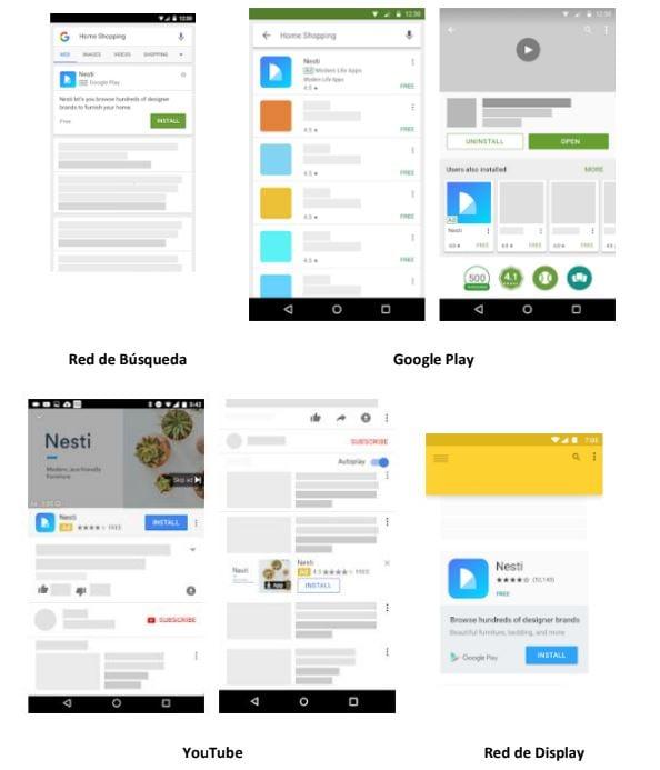 tipos anuncios google aplicaciones